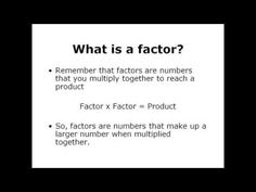 What is Common Factors and Greatest Common Factor. Quick Math Review. #math #lessons #tutorials #teaching #classrooms #examville