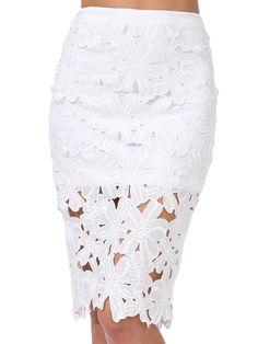 Length(cm) :S:54cm, M:55cm, L:56cm Waist Size(cm) :S:63cm, M:67cm, L:71cm Size Available :S,M,L Pattern Type :Plain Silhouette :Pencil Dresses Length :Above Knee/Short Color :White Material :Polyester