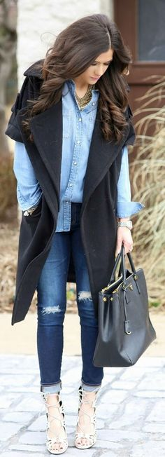 Black Short Sleeve Cover Coat by The Sweetest Thing