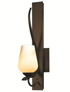 Hubbardton Forge 203035 Flora 1 Light Wallchiere Wall Sconce Bronze Indoor Lighting Wall Sconces Wallchiere Sconces