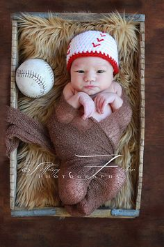 Baby baseball hat Newborn Photography Prop by AllBabyBoutique, $16.00