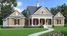 Mid-Size Affordable House Plan with Porches Front and Back - 55183BR   Architectural Designs - House Plans