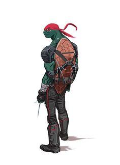 TMNT Raphael by Dan Mora, via Behance