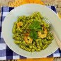 Fusilli Pasta With Herb Pesto & Shrimp for Gabe