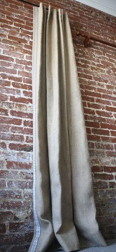 Quinn Linen Curtains : Modern or Vintage Art Deco Style ...