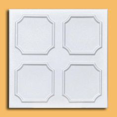"""50pc of Alfa White (20""""x20"""" Foam) Ceiling Tiles - Covers about 135sqft by Antique Ceilings. $130.00. Easy to install - with most any Mastic ceramic tile adhesive. Can be installed right over Pop Corn ceiling. Can be painted with most any water or latex based paints. Tin like look from a modern material. Made from high quality Polystyrene foam. The ceiling tiles and panels are made of uniform extruded polystyrene foam. With this technology, it is possible to ob..."""