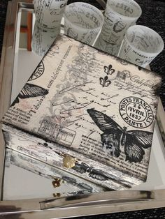 Shabby chic Box just in black & white