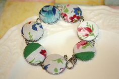 Shabby Chic bracelet Vintage hankie and linen by thepaisleymoon, $24.00