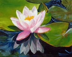 Water Lily Painting, Floral Oil Painting, Lotus Flower, Original Art by Marina Petro by MarinaPetroFineArt on Etsy https://www.etsy.com/listing/64079706/water-lily-painting-floral-oil-painting