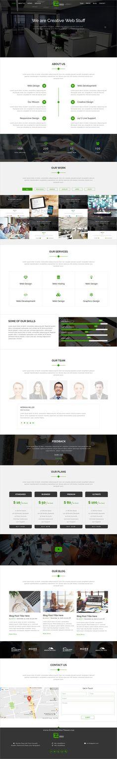 Zakkash is wonderful responsive #HTML #bootstrap theme for creative #business landing page websites download now➩  https://themeforest.net/item/zakkash-corporate-personal-minimal-portfolio-template/19391704?ref=Datasata