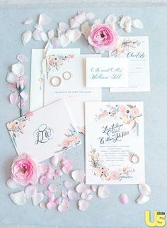 Lauren Conrad's Wedding Invitations  - Photo: Elizabeth Messina