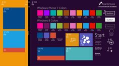Windows 8 metro ui refecence colors and sizes