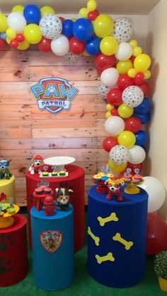 Paw Patrol Birthday Decorations, Paw Patrol Birthday Theme, Balloon Decorations Party, Paw Patrol Balloons, Paw Patrol Cake, 3rd Birthday Parties, Elementary Counseling, Career Counseling, Guidance Lessons