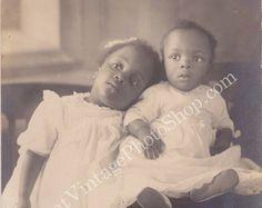 Vintage Photo African American Siblings