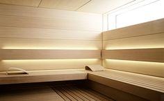 See the home page to enter KLAFS world of saunas and spas! Spas, Sauna Steam Room, Sauna Room, Design Sauna, Design Design, Design Ideas, Shape Design, Sauna Lights, Modern Saunas