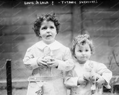 Michael Navaratil & His Brother TITANIC Survivors 8x10 Reprint Of Old Photo