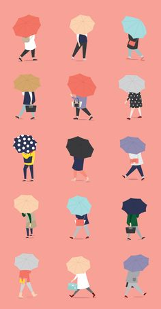 Putri Febriana Crossing the street on a rainy day on Behance