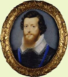 Robert Devereux, Earl of Essex-Note the dyed beard. Gentlemen of Elizabeth I's court were known to dye their beards this 'red gold' shade, to honor their Queen. (Although perhaps, like many men, the earl's beard was naturally of a different color than his hair.)  I have read that men of the era starched their beards as well.