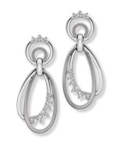 #Marie #Diamond #Earring Made in Real Diamond and 18 kt yellow & white gold.Customize as per your Style and budget.Get Exact Diamond Quality and weight.
