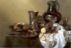willem claesz heda,   banket met bramenvlaai, 1633