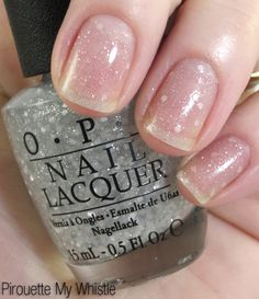 with matte, slightly translucent sequins, OPI Pirouette My Whistle is as restrained as glitter can get