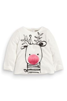 Buy Ecru Rudolph T-Shirt (3mths-6yrs) from the Next UK online shop