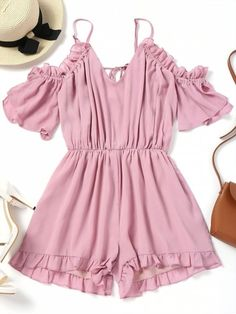 Up to 80% OFF! Frilled Cold Shoulder Romper. #Zaful #Jumpsuits #Romper zaful,zaful outfits,zaful dresses,spring outfits,summer dresses,Valentine's Day,valentines day ideas,cute,casual,classy,lace,mesh,fashion,style,bottoms,shorts,jumpsuits,rompers,playsuits,playsuit outfit,dressy jumpsuits,playsuits two piece,two piece outfits,two piece dresses,dresses,printed dresses,sundresses,long sleeve dresses,mini dresses,maxi dresses,lace dress,bohemian dresses @zaful Extra 10% OFF Code:ZF2017