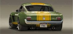 Mustang with a John Deere color scheme... I like it!
