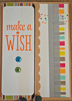 Make a Wish Birthday Card - Liz Noelle Designs