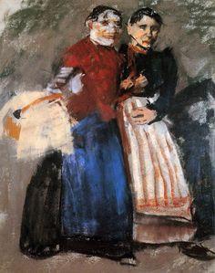 George Hendrik Breitner (1857-1923) - Two Amsterdam girls