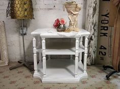 Vintage Painted Cottage Chic Shabby White by paintedcottages,
