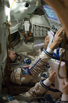 Soyuz training astronaut