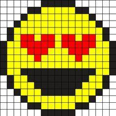 Emoji - Smiley Love Perler Bead Pattern
