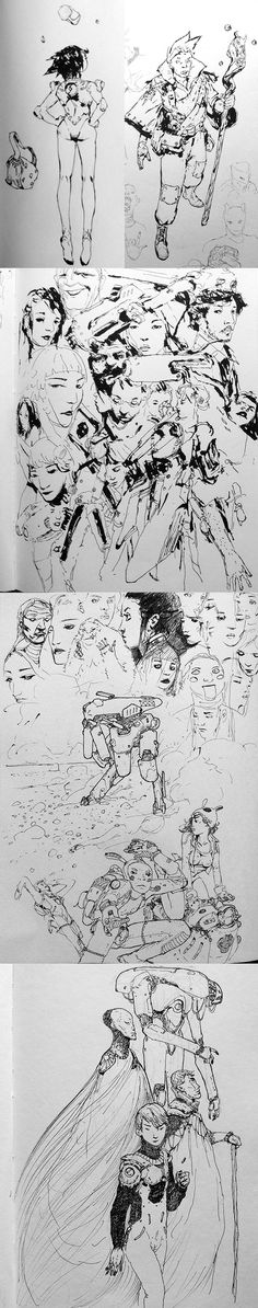 Sketches1-600px by lingy-0 on deviantART