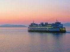 Dusk via Washington State Ferry