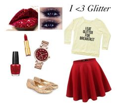 I <3 Glitter by lissy-1027 on Polyvore featuring Monsoon, Michael Kors, Isaac Mizrahi and OPI