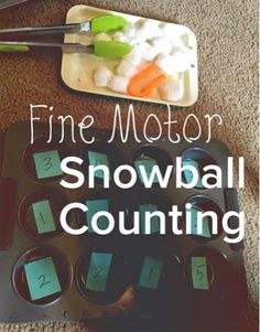 Views From the Step Stool: Simple Fine Motor Snowball Counting
