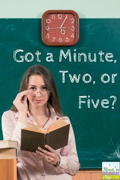 Got fast finishers or just a few spare minutes? Here are a ton of great ideas for making every minute count!