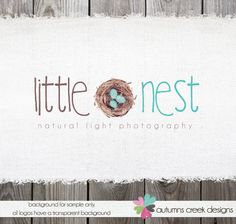 Photography Logo Design  Bird's Nest Robins Egg by autumnscreek, $95.00