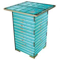 Werkhaus Shop - Säulentisch - Container Türkis