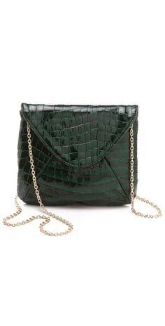 A great little evening bag.     Lauren Merkin Handbags Riley Patent Clutch