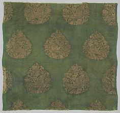 Swan Hunt Period: Jin dynasty (1115–1234) Culture: China Medium: Plain-weave silk brocaded with metallic thread Accession Number: 1989.282 - #textile