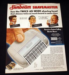 1950-Sunbeam-Shavemaster-Ad-Twice-As-Wide-Sat-Eve-Post