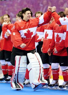 Carey Price (named top goaltender of the tournament) and Team Canada Duh, why wouldn't Carey be top goaltender he's the one that led Canada to the finals and the one who led them to the victory against USA Olympic Hockey, Pro Hockey, Hockey Goalie, Hockey Teams, Hockey Players, Hockey Stuff, Montreal Canadiens, Patrick Roy, Canadian Girls
