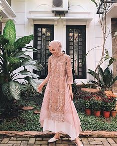 Model Dress brukat untuk lebaran 2020 – N&D – Hijab Fashion 2020 Kebaya Modern Hijab, Model Kebaya Modern, Kebaya Hijab, Kebaya Dress, Dress Pesta, Model Kebaya Muslim, Dress Brokat Muslim, Dress Brokat Modern, Muslim Dress