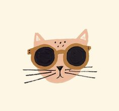 illustration, design, cat, cute, character, sunglasses, drawing - Tap the link now to see all of our cool cat collections!