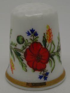 Poppy. Royal Worcester - Pattern Thru The Ages. Thimble-Dedal-Fingerhut.