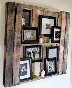 Fotoregal aus Europalette an die Wand aufhängen
