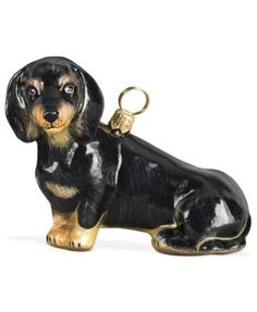 Joy to the World Black Dachshund Pet Charity Ornament