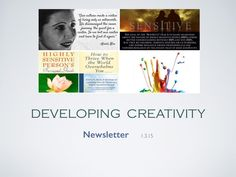 Developing Creativity newsletter: * Anais Nin on Extrovert Society * Elaine Aron on high sensitivity * Introvert/HSP books * The Complex Creative Personality -- and much more